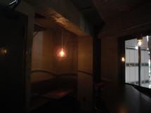 ランプシェードの影も弧を描く